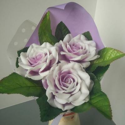 Букет из 3 двухцветных роз