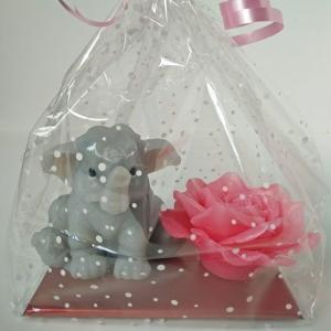 Мыльный слоник и роза